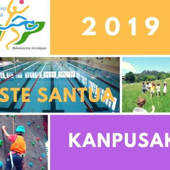 Aste Santuko kanpusak 2019