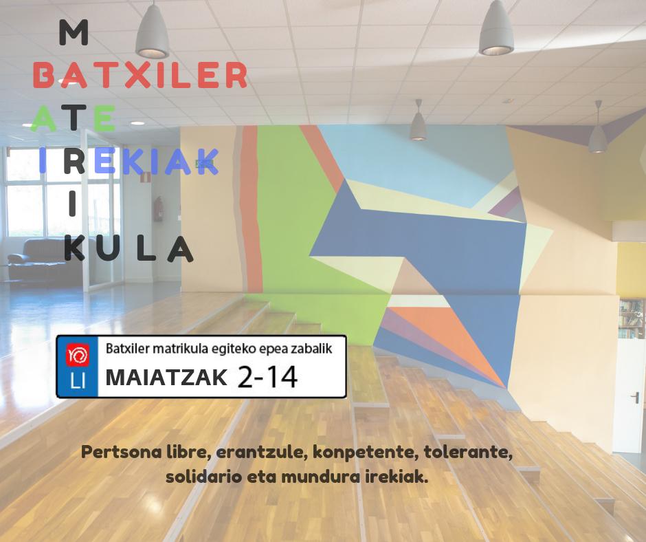 Batxiler matrikula_Lauroweb